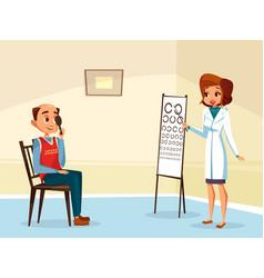 ophtalmogogist eyesight testing concept vector image