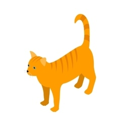 Orange tabby cat icon isometric 3d style vector image vector image