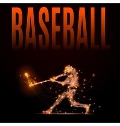 polygonal baseball player vector image vector image