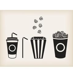 popcorn set vector image vector image