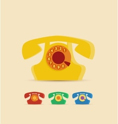 Retro Phone vector image