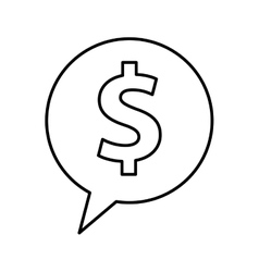 speech bubble with money symbol vector image