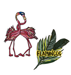 with flamingos vector image