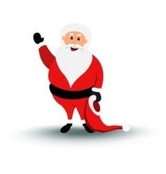 Christmas smiling Santa Claus character say Hello vector image vector image
