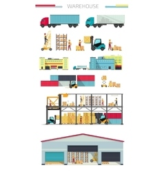Delivery Concept Warehouse vector image