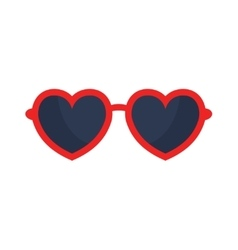 heart glasses isolated on white background vector image