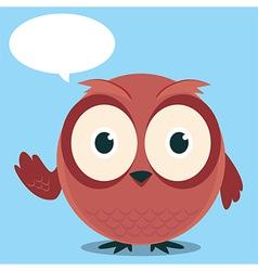 Owl Say With balloon talk vector image vector image