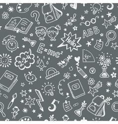 Seamless pattern on the school theme a blackboard vector image