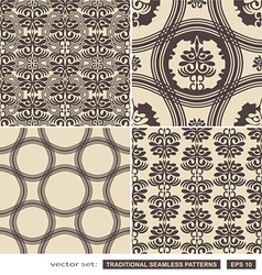 Vintage ornamental brown backgrounds vector image vector image