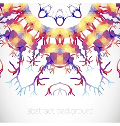 Abstract background with deer Antler vector image vector image