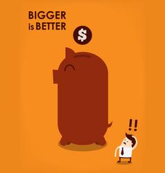 big piggy bank vector image