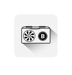 bitcoin coin symbol icon digital web money crypto vector image vector image