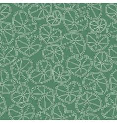 citrus hearts seamless pattern vector image
