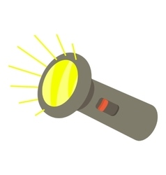 Flashlight icon isometric 3d style vector image