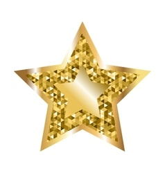 Golden Five Pointed Star Icon vector image vector image