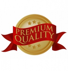 premium quality seal vector image