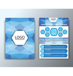 Template flyer with polygonal background vector image