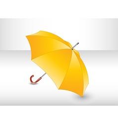 Yellow umbrella vector image