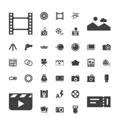 37 film icons vector