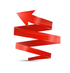 Abstract 3d Red Arrow Icon vector image