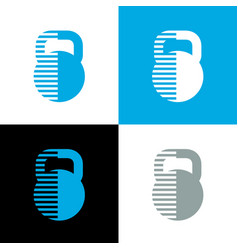 Abstract kettlebell icon design fitness and gym vector
