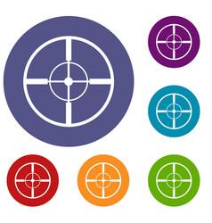 aim icons set vector image