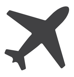 Airplane glyph icon web and mobile flight mode vector