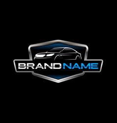 Automotive logo template vector