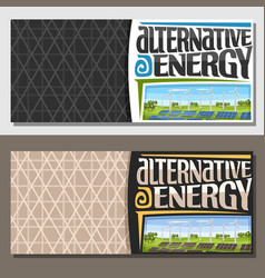 banners for alternative energy vector image