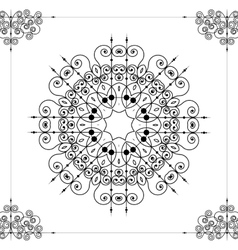 Beautiful ornamental rosette or mandala vector