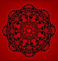 Beautiful round ornament vector
