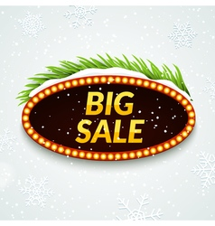 Big sale winter sale sign design template Xmas vector
