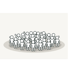 big white people crowd conference or discussion vector image