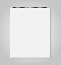 Blank wall calendar mockup style card for your vector