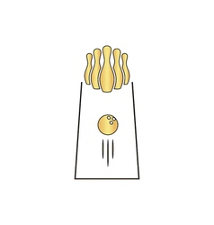 bowling computer symbol vector image