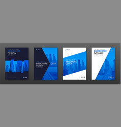 Brochure cover design layout set for business vector