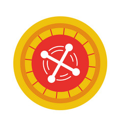 Casino roulette isolated icon vector
