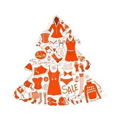 Christmas clothes set vector image