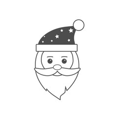 christmas icon santa claus icon vector image