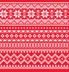 christmas winter seamless pattern vector image