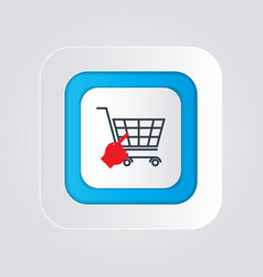 Click shopping icon isolated on a white vector
