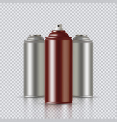 copper paint aerosol spray metal bottle can vector image
