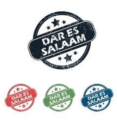 Dar Es Salaam stamp set vector