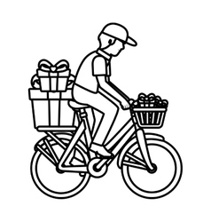 delivery worker service icon vector image