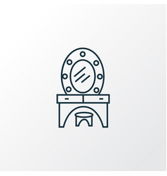 dressing table icon line symbol premium quality vector image