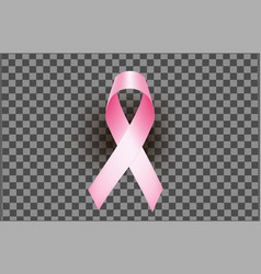 Element pink ribbon for breast cancer vector