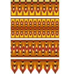 Ethnic Pattern Stripe Set vector image