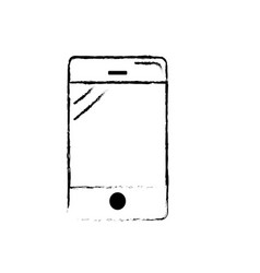 figure smartphone technology to call and talk the vector image