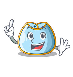 Finger baby bib isolated on the mascot vector