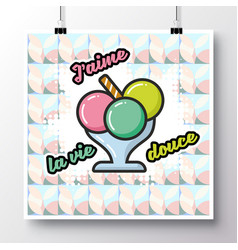 food icons poster 2 vector image